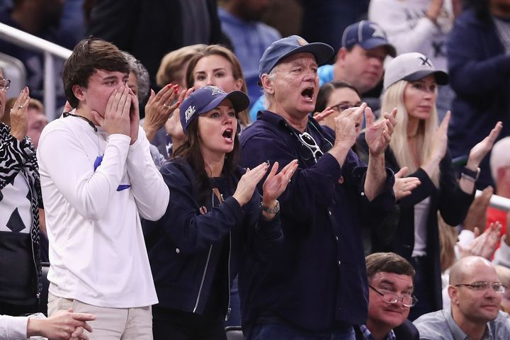 Bill Murray at the Xavier Musketeers and the Maryland Terrapins game.