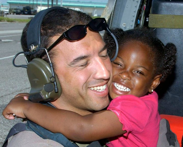 Three-year-oldLaShay Brown gave Master Sgt. Mike Maroney the thank you of a lifetime after he saved herduring Hur