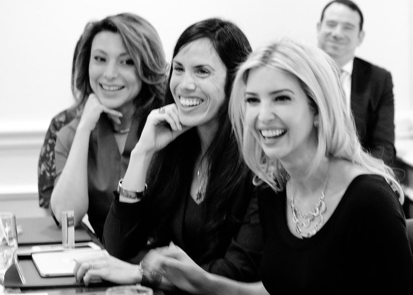 Lili Gil Valletta, Dyan Gibbens, Ivanka Trump at private roundtable of Latina business owners, facilitated by the USHCC