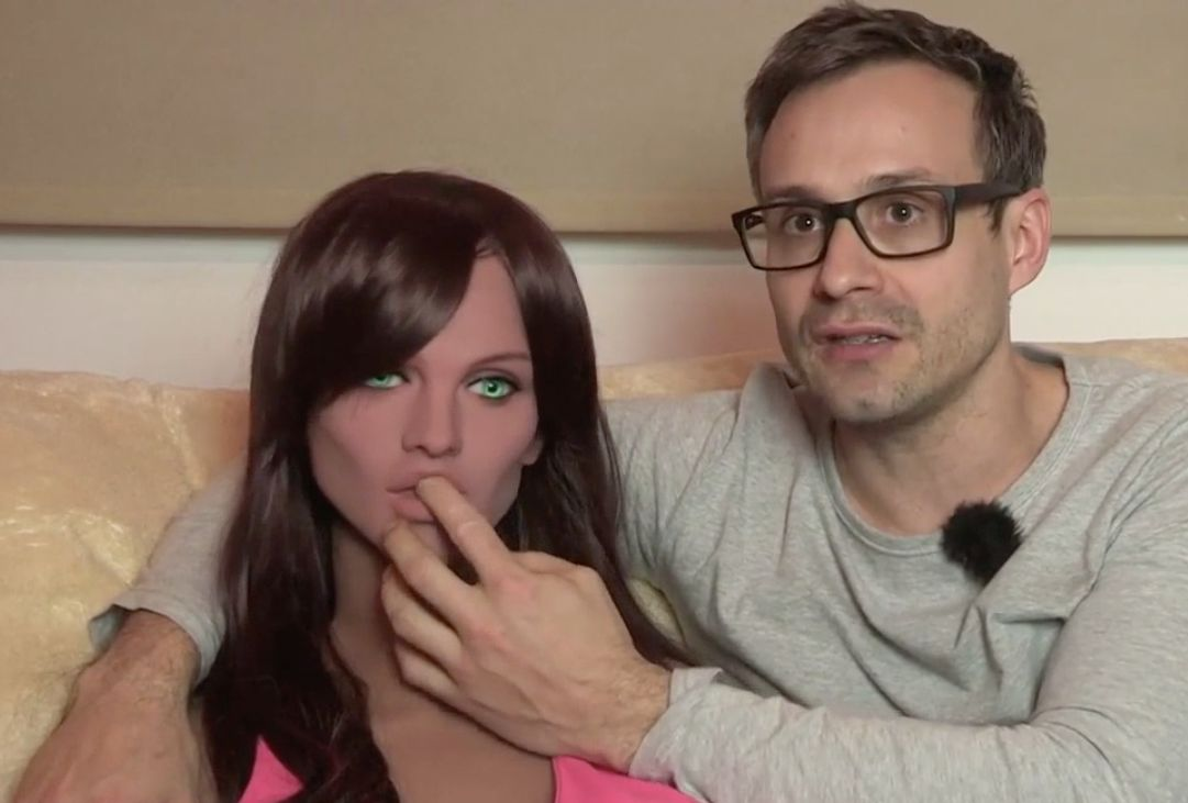 Sergi Santos has invented a sex doll with artificial intelligence that supposedly responds to kissing and other forms of affection
