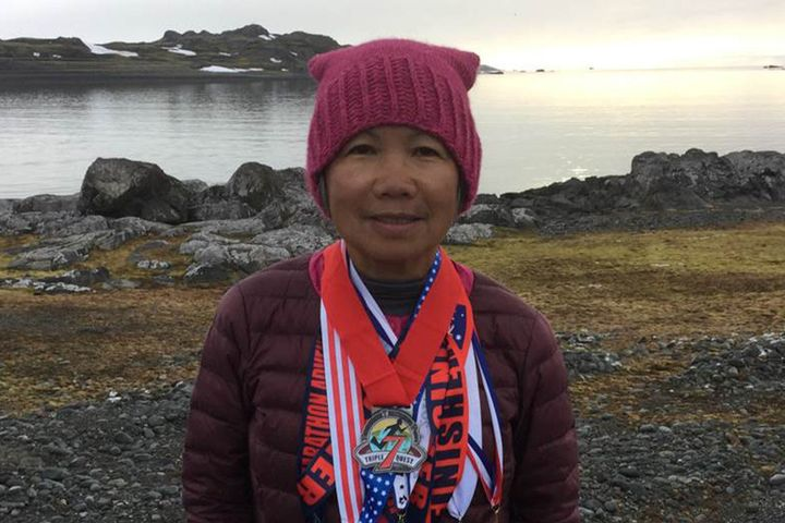 Chau Smith recently ran seven marathons in the span of one week.
