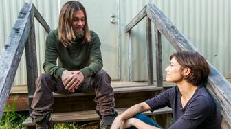 Lauren Cohan as Maggie Greene, Tom Payne as Paul 'Jesus' Rovia- The Walking Dead _ Season 7, Episode 14 - Photo Credit: Gene Page/AMC