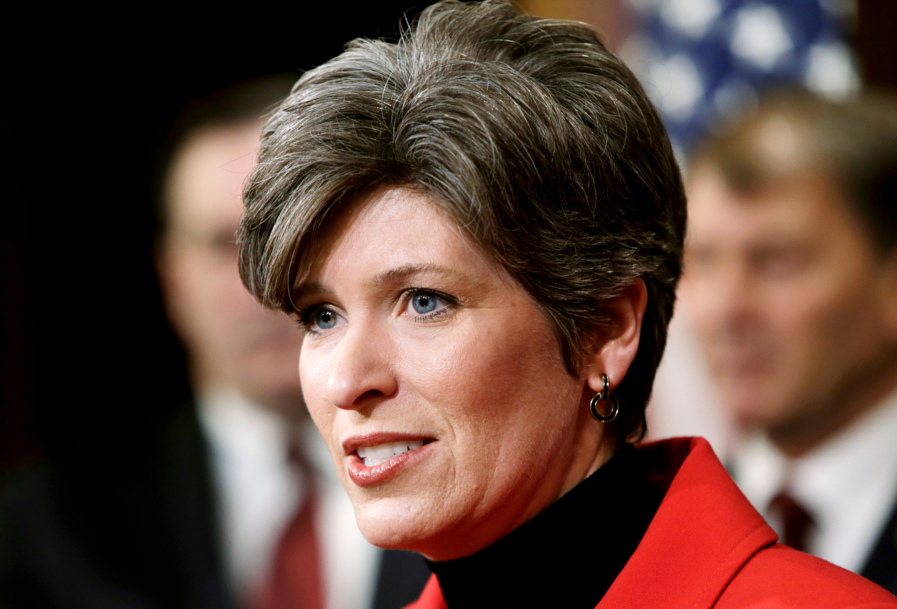Senator Joni Ernst (R-IA) delivers remarks at a bi-partisan news conference to discuss arming Ukrainians with lethal weapons to fight separatists in east Ukraine, on Capitol Hill in Washington February 5, 2015.      REUTERS/Gary Cameron   (UNITED STATES - Tags: POLITICS CIVIL UNREST)