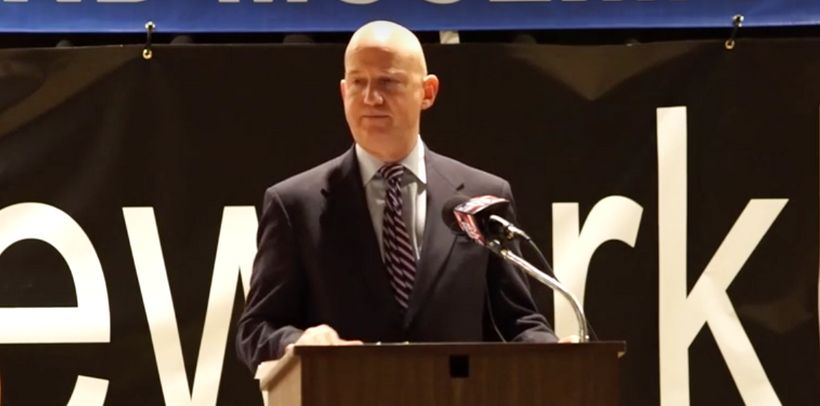 Governor Markell keynoting the Muslim community conference on Social Justice on Dec 5, 2015.