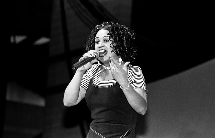 CeCe Peniston performs at the Marcus Amphitheater in Milwaukee in 1994.