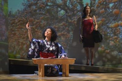 Mia Tagano (Hiromi) andElizabeth Pan (Sayuri) in a scene from <strong><em>Calligraphy</em></strong>