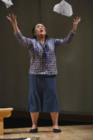 Emily Kuroda as Noriko, a woman in the early stages of Alzheimer's disease, in a scene from<strong><em>Calligraphy</em></str