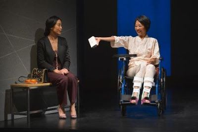 Elizabeth Pan (Sayuri) and Jeanne Sakata (Natsuko) in a scene from<strong><em>Calligraphy</em></strong>