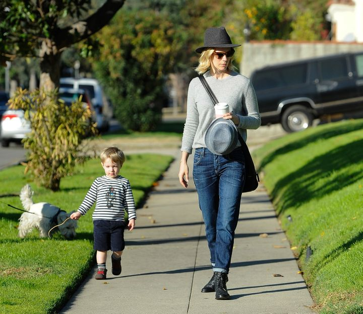 January Jones and her son Xander