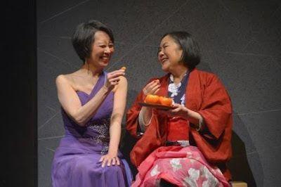 Jeanne Sakata (Natsuko) and Emily Kuroda (Noriko) in a scene from<strong><em>Calligraphy</em></strong>