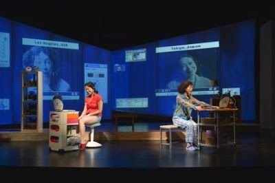 Elizabeth Pan (Sayuri) and Mia Tagano (Hiromi) in a scene from <strong><em>Calligraphy</em></strong>