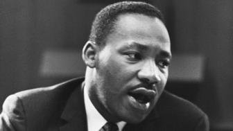 Dr. Martin Luther King, Jr. (1929-1968). King was a baptist minister who advocated racial brotherhood and nonviolent protest against oppression of all kinds. He was awarded a Nobel Peace Prize in 1964 and was assassinated in 1968 in Memphis, Tennessee. (Photo by © CORBIS/Corbis via Getty Images)