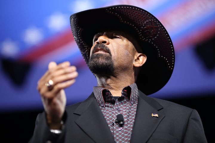 Milwaukee County Sheriff David Clarke speaks at the annual Conservative Political Action Conference in Maryland last month.