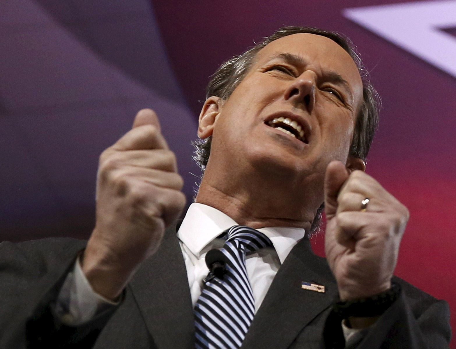 Former Senator Rick Santorum (R-PA) speaks at the American Conservative Union (CPAC) 2016 annual conference in Maryland March 3, 2016.   REUTERS/Gary Cameron