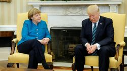Redditors Gleefully Spoof Donald Trump's Awkward Photo-Op With Angela