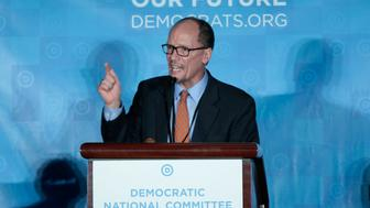 Democratic National Chair candidate, Tom Perez, addresses the audience as the Democratic National Committee holds an election to choose their next chairperson at their winter meeting in Atlanta, Georgia. February 25, 2017. REUTERS/Chris Berry