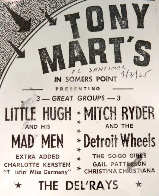 Tony Mart's flier, Somers Point NJ