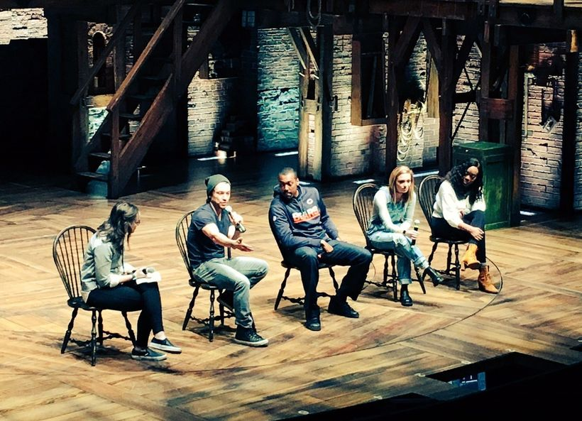 Members of the Hamilton cast answer students' questions