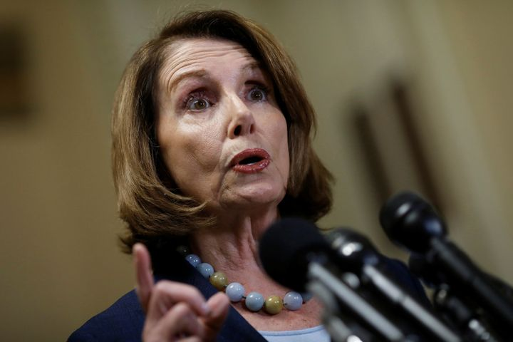 """House Minority Leader Nancy Pelosisaid President Donald Trump made a """"terrible accusation"""" against former President Bar"""