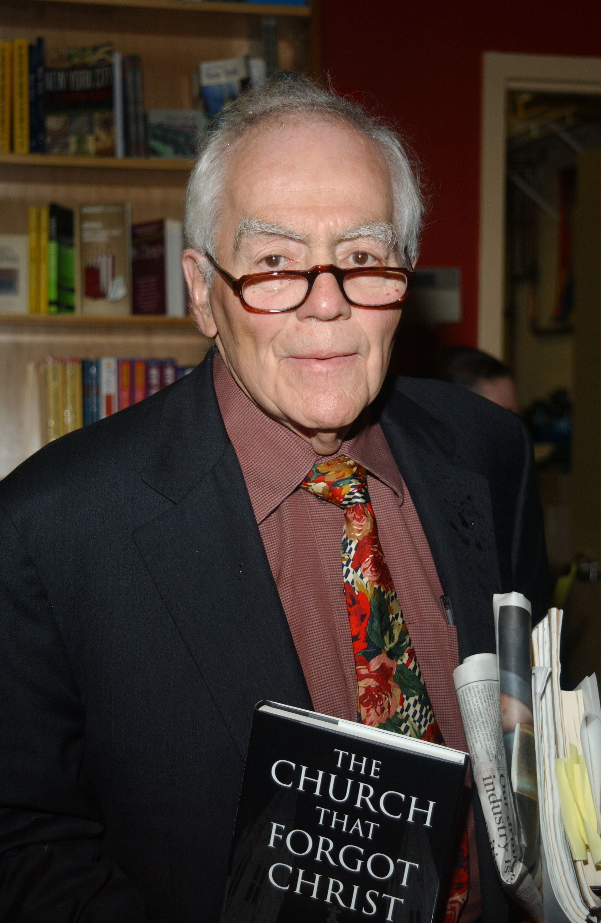 Jimmy Breslin during Jimmy Breslin Reading from his New Book 'The Church That Forgot Christ' at Coliseum Books in New York City, New York, United States. (Photo by Debra L Rothenberg/FilmMagic)