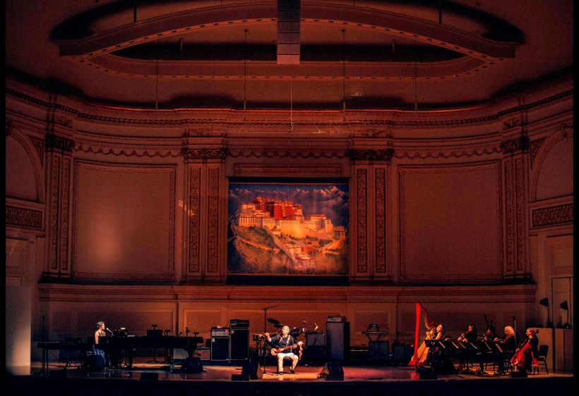 Tenzin Choegyal and Jesse Paris Smith with Lavinia Meijer and Scorcchio Quartet at Carnegie Hall on Thursday, March 16, 2017