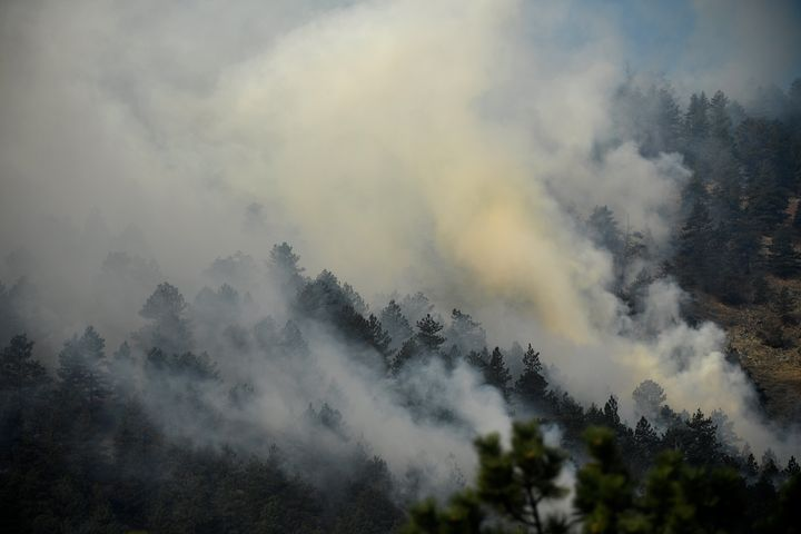 The wildfire threatens Boulder.