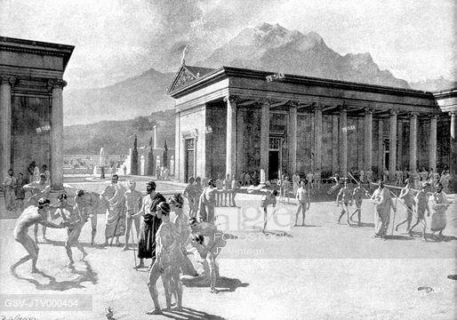 "Greek Gymnasium, 2nd century BC   <a rel=""nofollow"" href=""https://www.previews.agefotostock.com/"" target=""_blank"">www.preview"