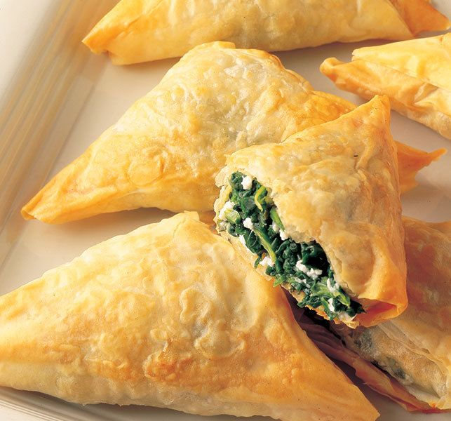 """Spanakopita Spinach-Cheese Phyllo Triangles   <a rel=""""nofollow"""" href=""""https://www.athensfoods.com/"""" target=""""_blank"""">www.athen"""
