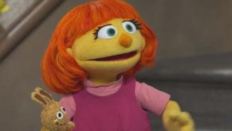 Julia hits the nabe on Sesame Street
