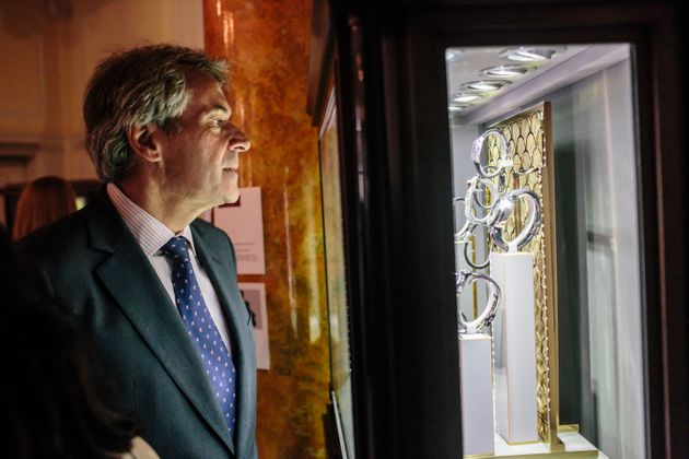 Sir Peter Westmacott attends Savile Row Bespoke and America at the British Ambassador's Residence on...