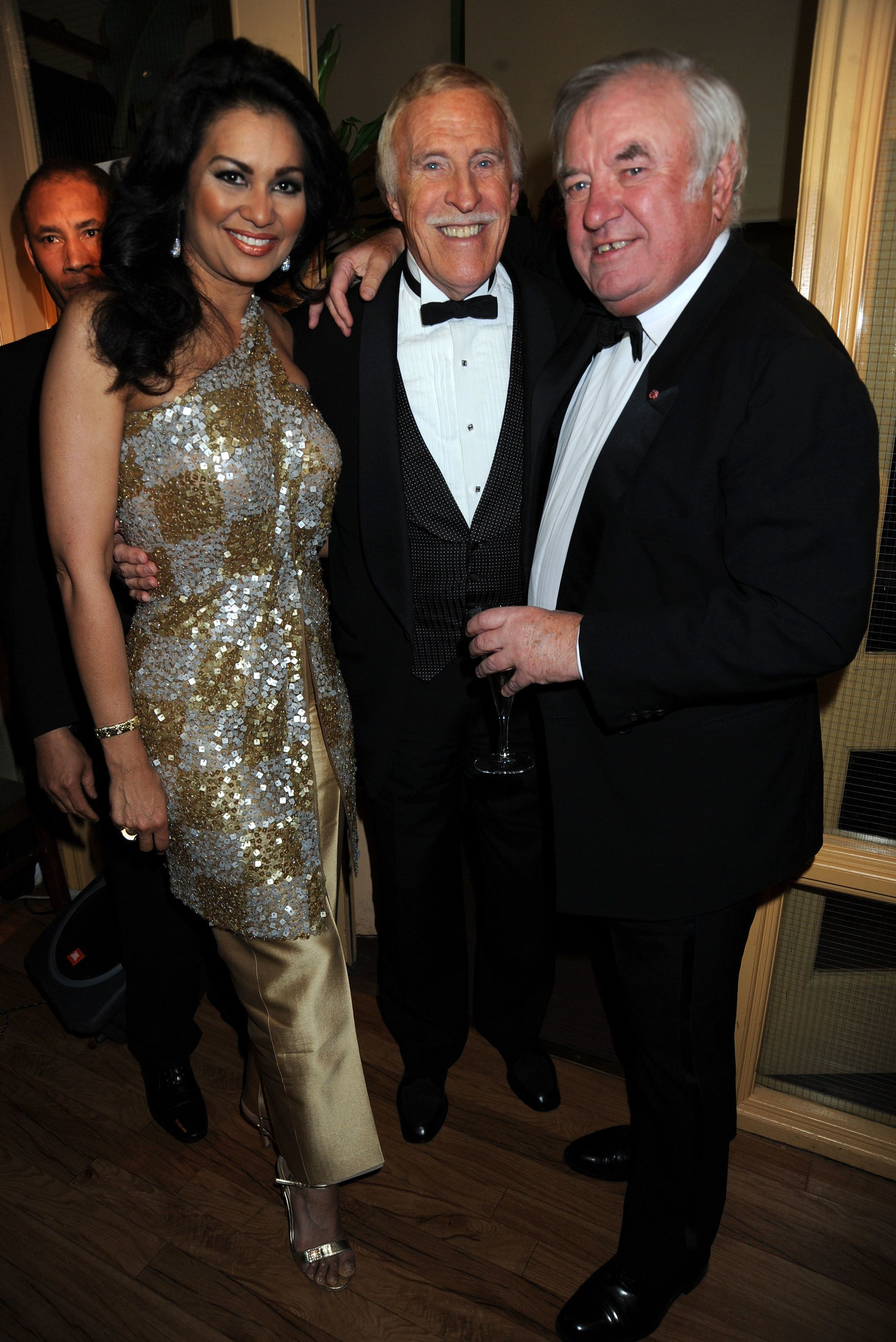 Bruce Forsyth with his wife, Wilnelia, and Jimmy