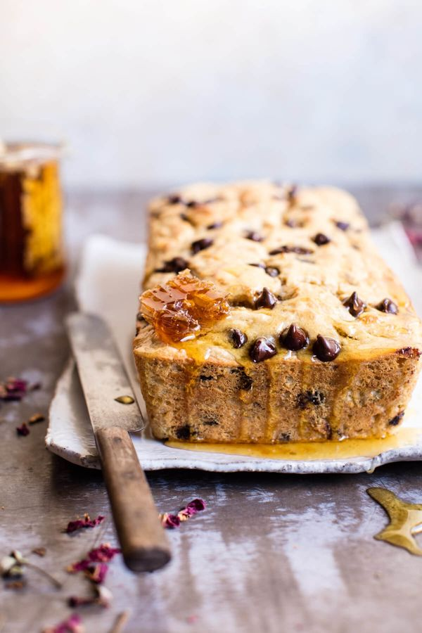 "<strong>Get the <a href=""https://www.halfbakedharvest.com/nourishing-7-ingredient-chocolate-chip-ricotta-banana-bread/"" targe"