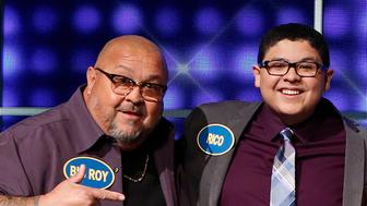 CELEBRITY FAMILY FEUD - Rico Rodriguez vs Jaleel White - The celebrity families competing to win cash for their charities feature the families of Modern Family star Rico Rodriguez against the family of actor Jaleel White (Family Matters, Dancing with the Stars). This episode of Celebrity Family Feud airs SUNDAY, JULY 17 (8:00-9:00 p.m. EDT), on the ABC Television Network. (Kelsey McNeal/ABC via Getty Images) ROY BIG ROY RODRIGUEZ, RICO RODRIGUEZ, RAINI RODRIGUEZ, ROY LIL ROY RODRIGUEZ, RAY RAY RAY RODRIGUEZ