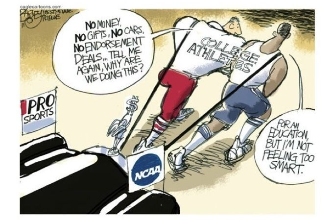 Should college athletes be paid less