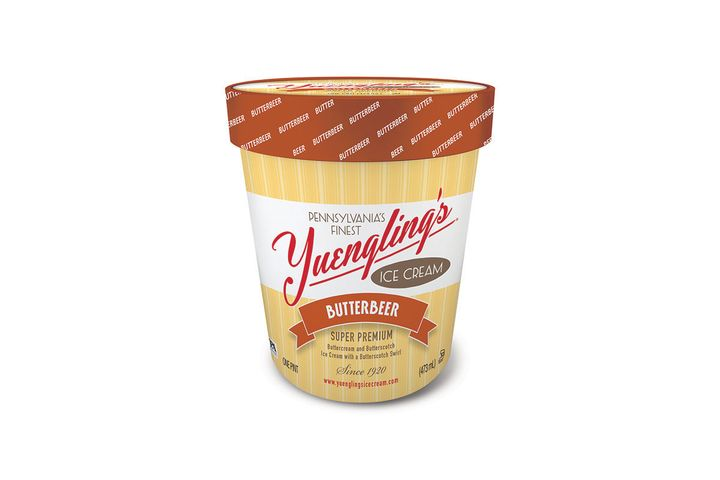 A pint of Yuengling's new Butterbeer ice cream flavor.