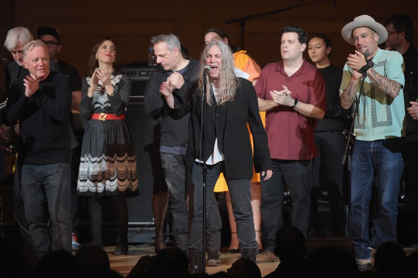 The concert ends with a sing-along of Patti Smith's 'People Have the Power.'