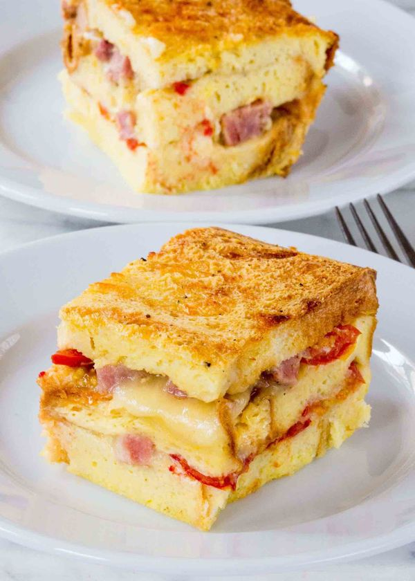"<strong>Get the <a href=""http://www.simplyrecipes.com/recipes/ham_and_cheese_breakfast_casserole/"" target=""_blank"">Ham And Ch"