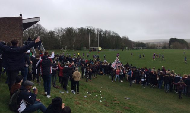 A sports event between Sussex and Brighton University had to be abandoned after violence broke out between...