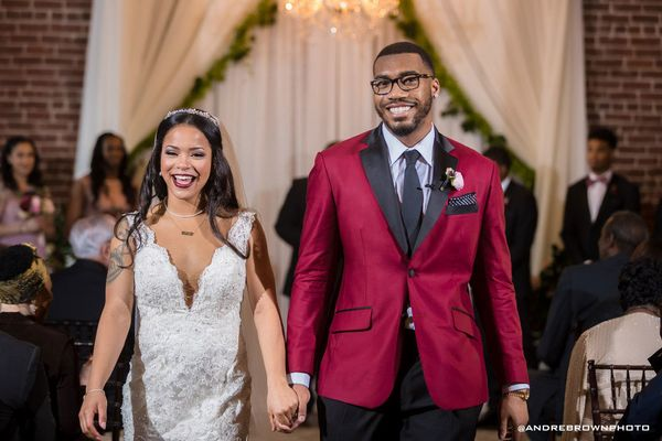 """""""Introducing the Tuggles! Justin and Chelsa were married in an intimate, rustic wedding in Atlanta."""" --<i>Andre Brown</"""