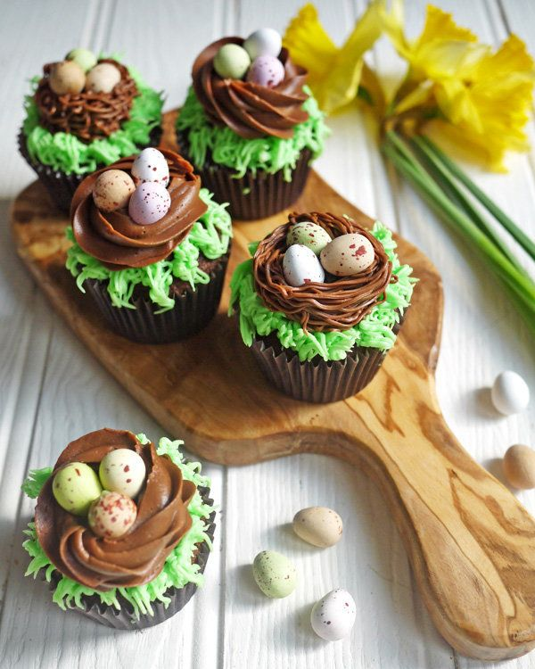 Easter Chocolate Nest Mini Egg Cupcakes