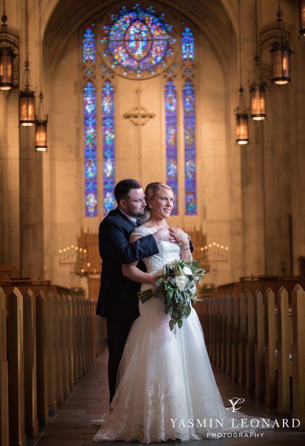 """""""Johnna and Zack had a fairytale wedding on March 18 with a romantic ceremony at Wesley Memorial United Methodist Church foll"""