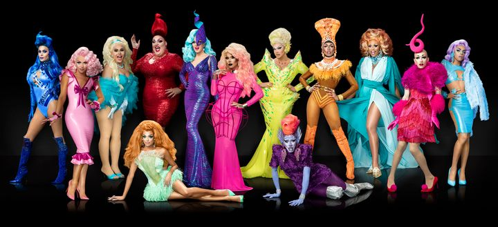 "The cast of ""RuPaul's Drag Race"" season nine."