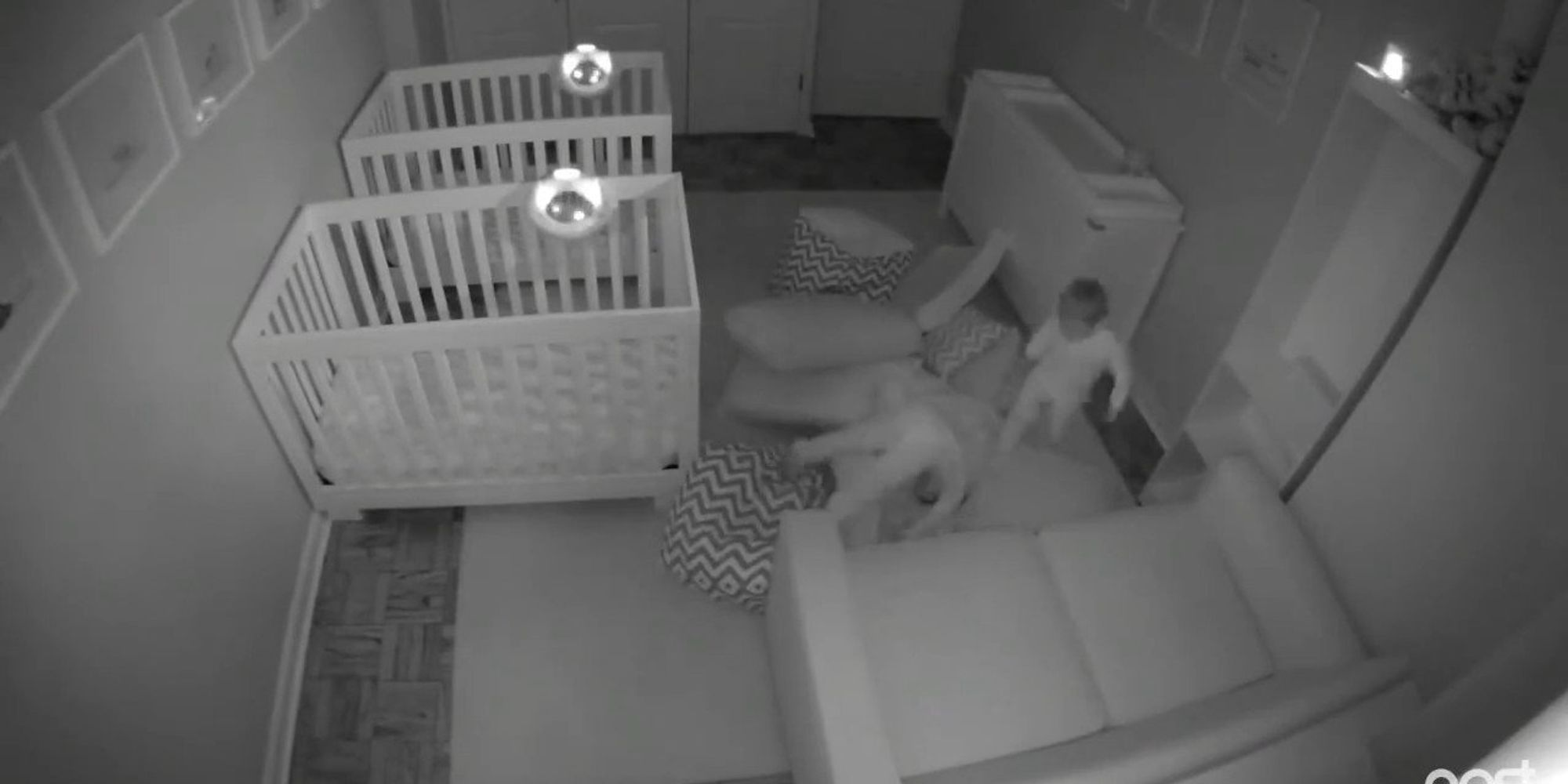 Camera Catches 2-Year-Old Twins Having Epic Party After Bedtime