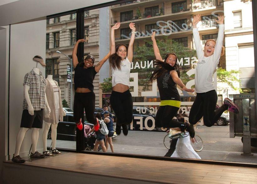 """Carmen, Zumba instructor, BellaVita, at Eddie Bauer <a rel=""""nofollow"""" href=""""https://www.eddiebauer.com/"""" target=""""_blank"""">www."""