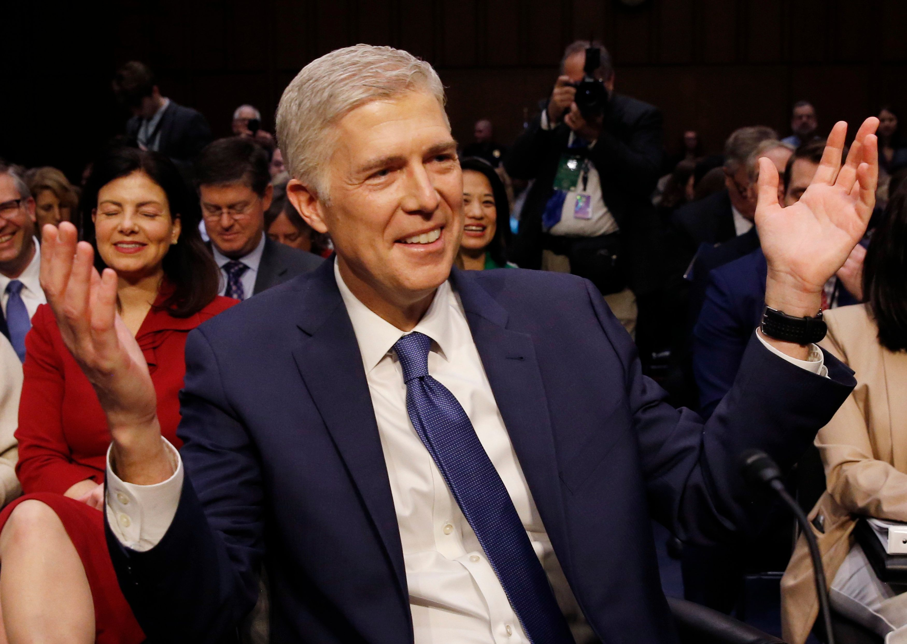 Maybe someone should ask Neil Gorsuch about this before he's confirmed as a Supreme Court justice?