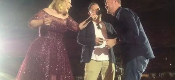 Adele Invites Gay Couple Onstage For A Surprise Proposal