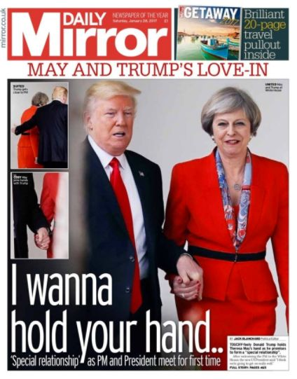 Walker said the Theresa May-Donald Trump hand-holding incident was 'very
