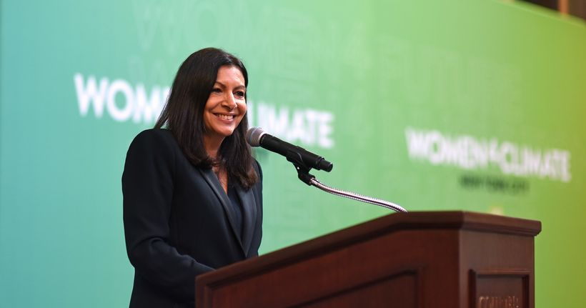 Paris Mayor Anne Hidalgo welcomes those convened for the #Women4Climate Initiative launch