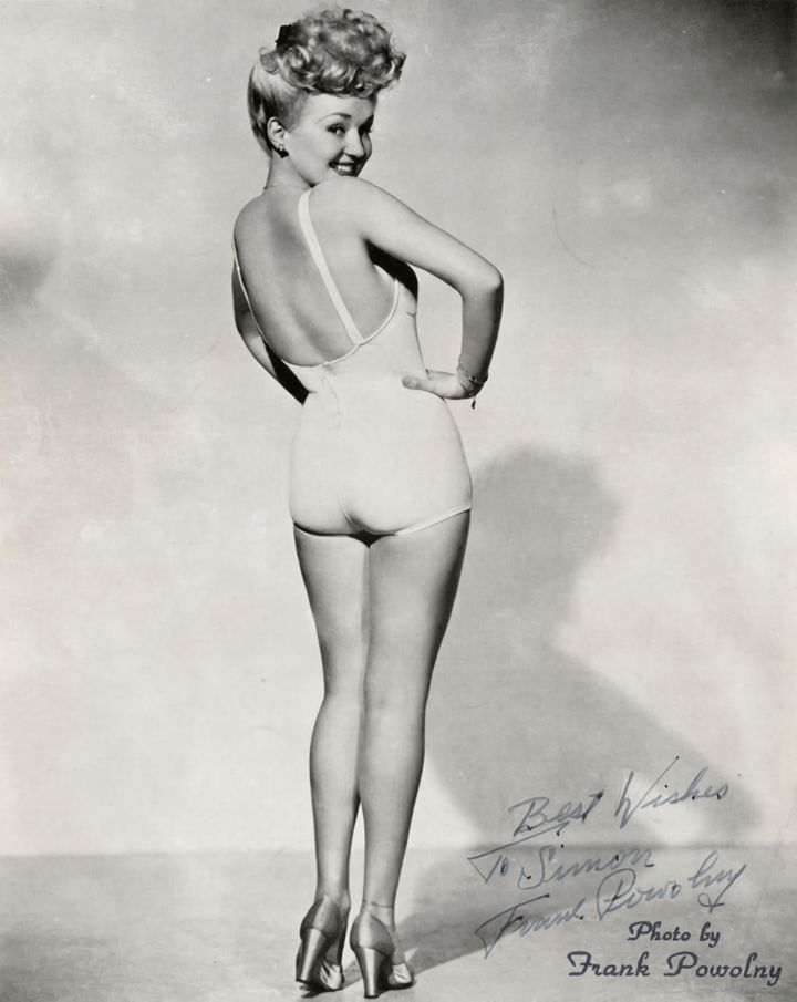 The quintessential pin up image: Betty Grable.