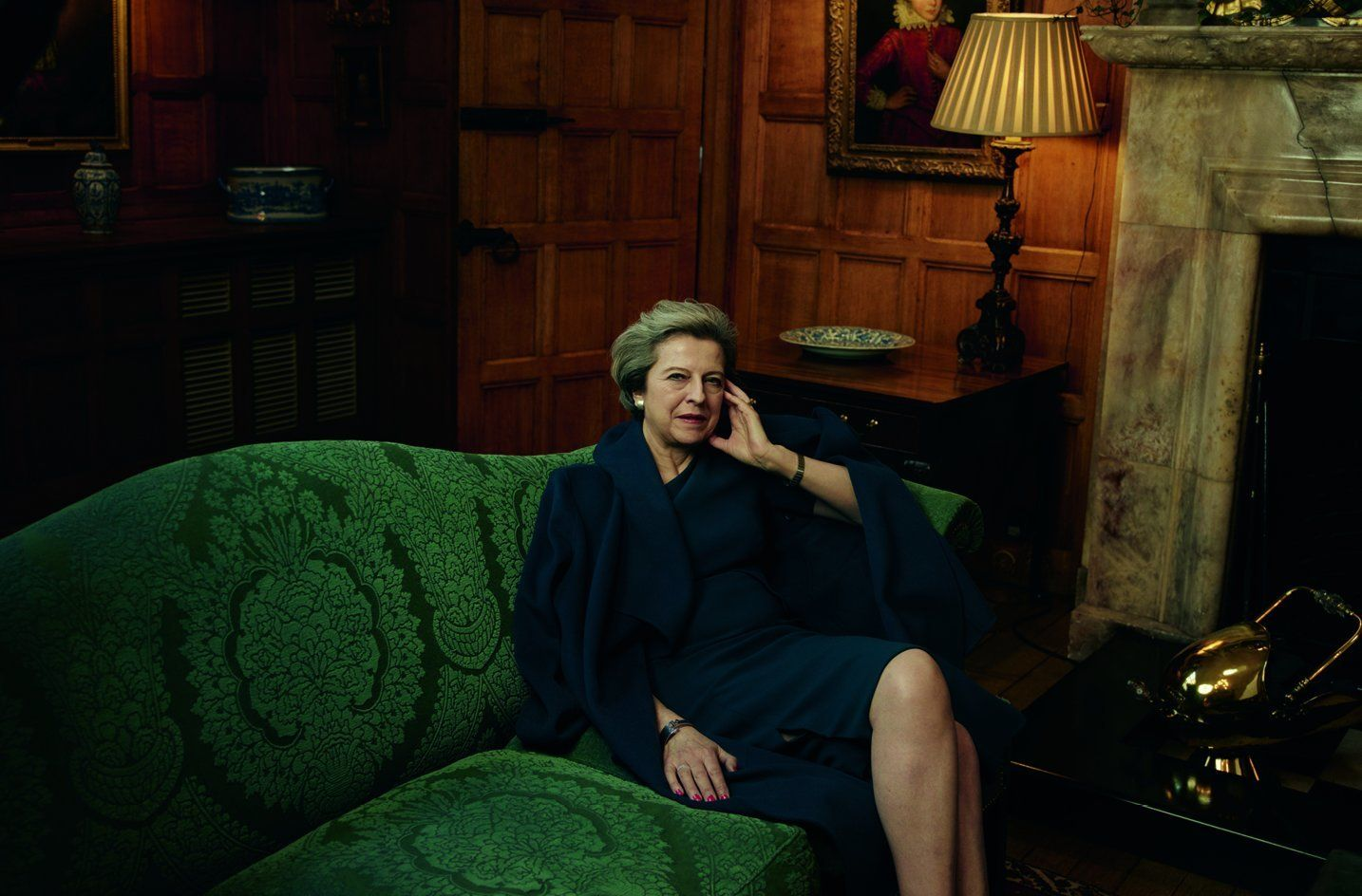 The Prime Minister in a photograph taken by Annie Leibovitz for Vogue US